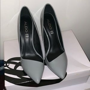 Aldo Patent Gray Heels!